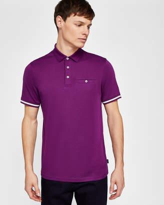 Ted Baker PUGGLE Stripe cuff polo shirt