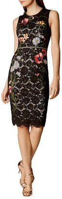 KAREN MILLEN Embellished Sheath Dress $470 thestylecure.com