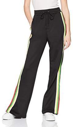 Pam & Gela Women's Hi-Waist Trouser with Rainbow Sportstripe