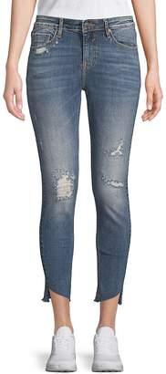 Vigoss Women's Marley Ripped Cropped Jeans