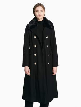 Calvin Klein double breasted belted coat