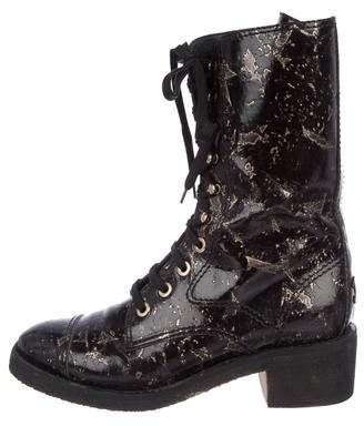 Chanel CC Cap-Toe Ankle Boots