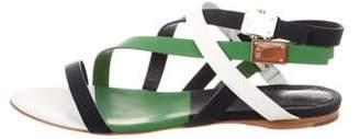 Christian Dior Leather Multi-Strap Sandals green Leather Multi-Strap Sandals