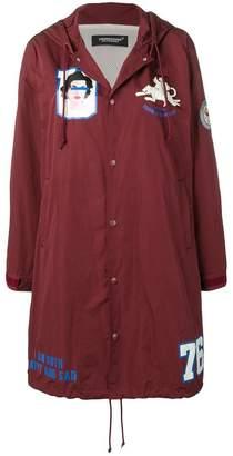 Undercover printed parka coat