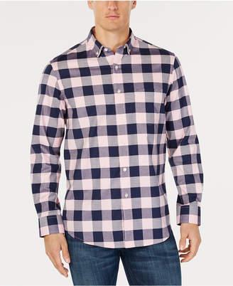 Club Room Men Herringbone Plaid Pocket Shirt