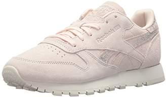 Reebok Women's CL LTHR Shimmer Sneaker
