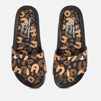 fa55b5c27c8a15 Melissa Women s Leopard Beach Slide Sandals - Black Contrast