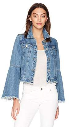 Glamorous Women's Bell Sleeve Denim Jacket