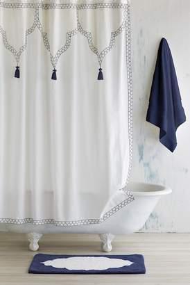 John Robshaw Feather Stitch Shower Curtain