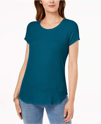 INC International Concepts I.n.c. Mixed-Media T-Shirt, Created for Macy's