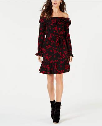 Michael Kors Floral Off-The-Shoulder Dress
