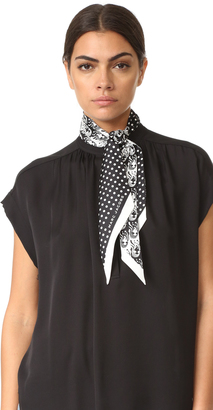 Marc Jacobs Wavy Lady Dot Scarf $95 thestylecure.com