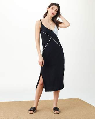 Splendid X Margherita Positano Slip Dress Midnight Black