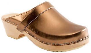 Cape Clogs Leather Clogs - Bronze