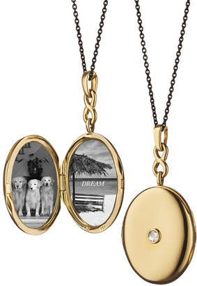 Monica Rich Kosann 18K Gold Locket Necklace with Diamond Center