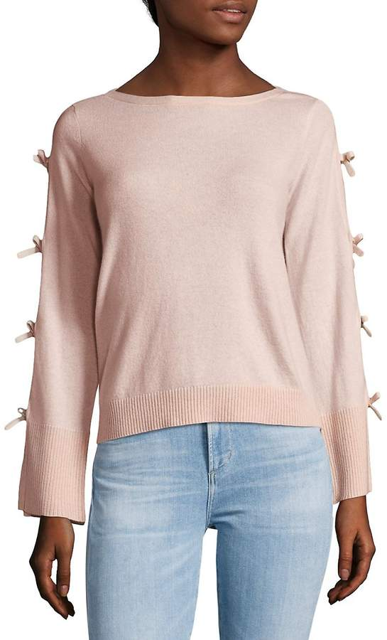 Cashmere Women's Bow-Sleeve Sweater