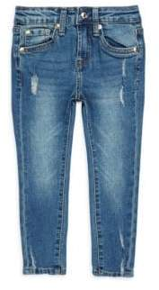7 For All Mankind Girl's Distressed Jeans