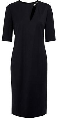 Lanvin Crystal-Embellished Cutout Stretch-Wool Twill Dress