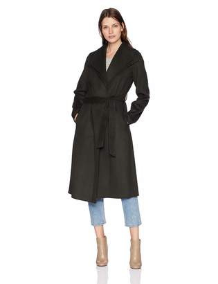 T Tahari Women's Long Double face wrap Coat, M