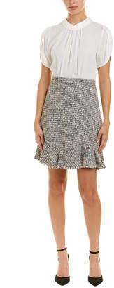 Rebecca Taylor Silk-Blend A-Line Dress