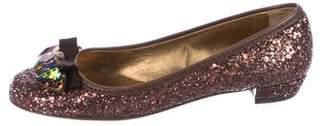 Miu Miu Embellished Ballet Flats