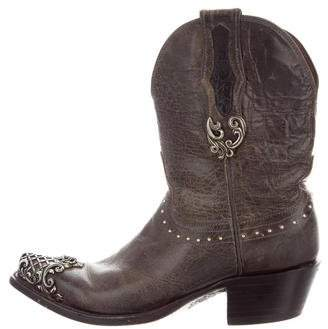 Lucchese Embellished Western Boots
