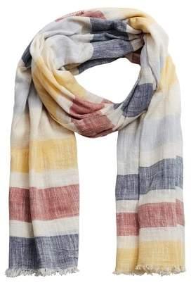 Mango Man MANGO MAN Cotton end-on-end striped scarf