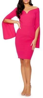 Quiz Off-the-Shoulder Flare Sleeve Dress