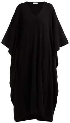 Roche Ryan Draped Cashmere Kaftan Midi Dress - Womens - Black