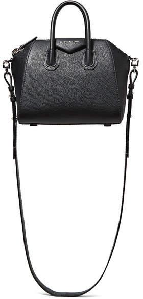 Givenchy - Antigona Mini Textured-leather Shoulder Bag - Black