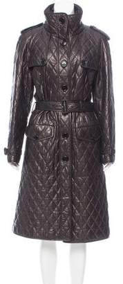 Burberry Quilted Leather Coat