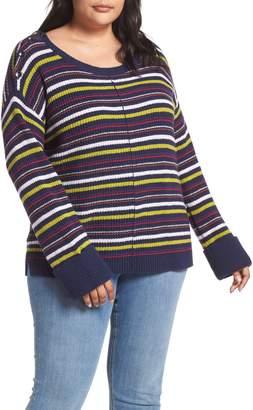 Caslon Button Shoulder Sweater