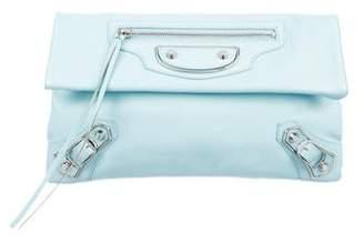 Balenciaga Metallic Edge Envelope Clutch