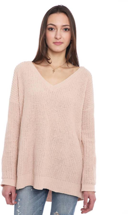 BB DakotaBB Dakota Chenille V-Neck Tunic Sweater