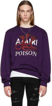 Amiri Purple Poison Sweatshirt