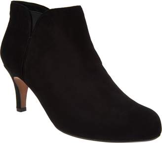Clarks Leather or Suede Side Zip Ankle Booties- Arista Page