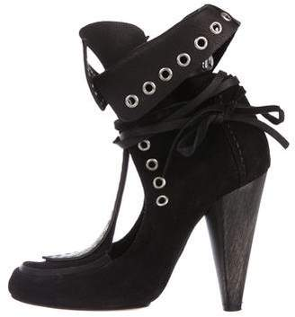 Isabel Marant Suede Grommet Bow Boots