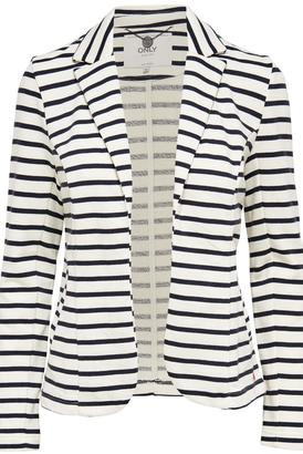 ONLY Striped Blazer $68 thestylecure.com