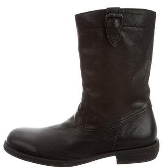 Yohji Yamamoto Leather Mid-Calf Boots w/ Tags $325 thestylecure.com