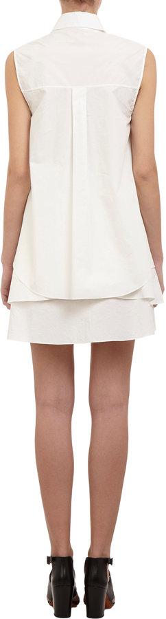 Derek Lam 10 Crosby Layered Sleeveless Shirt Dress