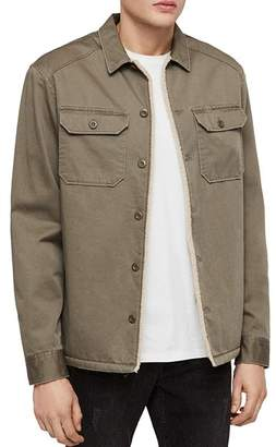 AllSaints Parris Faux-Shearling-Lined Regular Fit Shirt