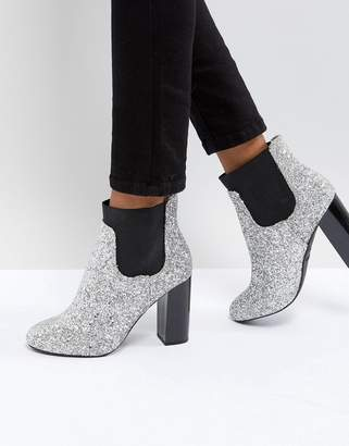 Call it SPRING Glitter Heeled Ankle Boots