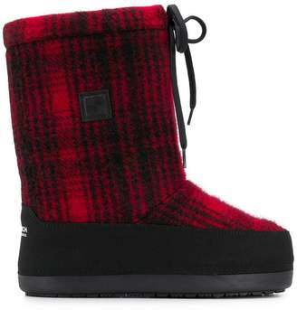 Woolrich checked Eskimo boots
