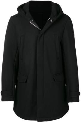 Emporio Armani hooded shearling coat