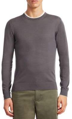 Emporio Armani Wool Contrast Sweater