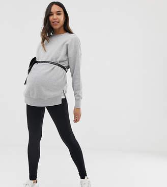 New Look Maternity 2 pack leggings in multi