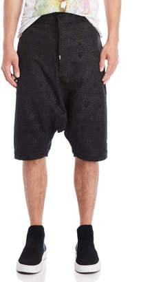 Tuesday Night Band Practice Printed Drop Crotch Shorts