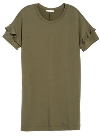 Women's Lush Ruffle Sleeve T-Shirt Dress 3
