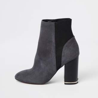 River Island Grey elastic ankle boots