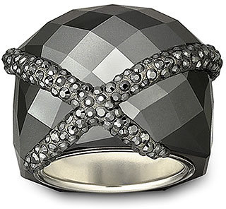 Forever Jet Hematite Ring